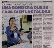 Eusebia Chanta Chinguel: una rondera que se faja bien las faldas